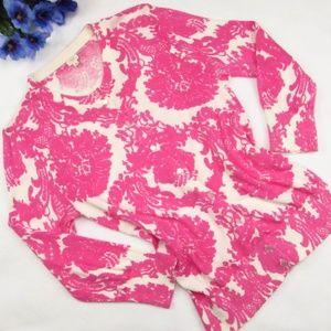 J. Crew Cardigan Damask Pink Sweater